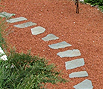 CODE 9: Corridor paved with mosaic garden taps from irregular plate