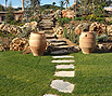 CODE 8: Garden path, with steps from Karystou stones and rock garden from decorative Aris stone