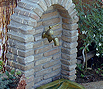 CODE 9: Garden fountain, made by old brick, with stone sink
