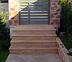 CODE 14: Staircase from natural pink Syrian stone