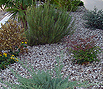 CODE 12: Garden surface, covered in white water pebble