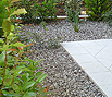 CODE 13: Garden surface, covered in white water pebble